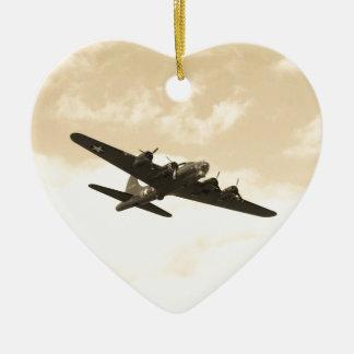 Flying Fortress In Flight Ceramic Ornament