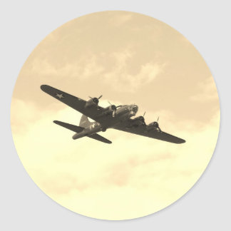 Flying Fortress In Flight Classic Round Sticker