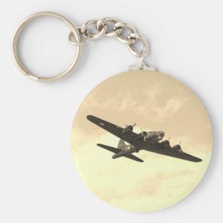 Flying Fortress In Flight Keychain