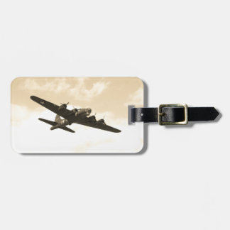 Flying Fortress In Flight Tag For Bags