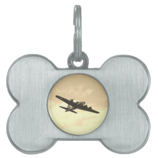 Flying Fortress In Flight Pet Tag