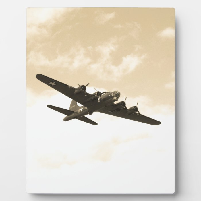 Flying Fortress In Flight Plaque