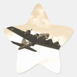 Flying Fortress In Flight Star Sticker