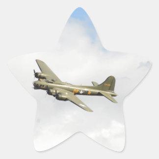 Flying Fortress Star Sticker