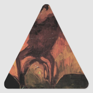 Flying Fox by Vincent van Gogh Triangle Sticker
