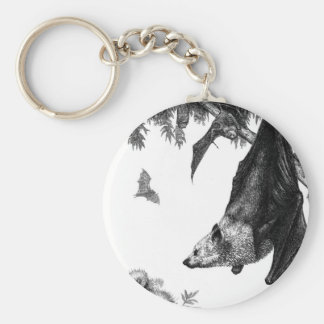 Flying Foxes Keychain