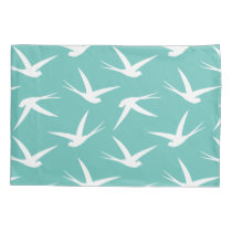 Flying Free Elegant Bird Pattern Pillow Case