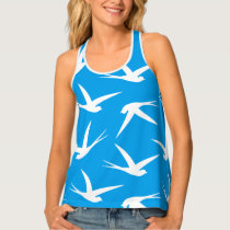 Flying Free Elegant Bird Pattern Tank Top