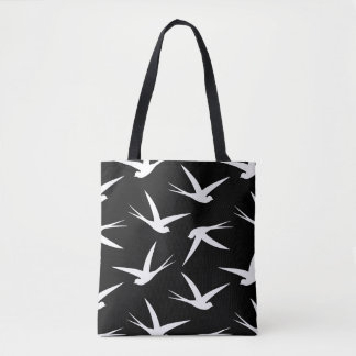 Flying Free Elegant Bird Pattern Tote Bag