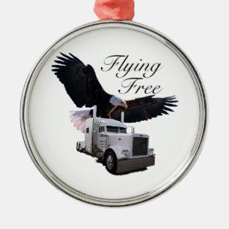 Flying Free Metal Ornament