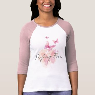 Flying Free Pink Raglan t-shirt