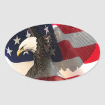 flying freedoms oval sticker