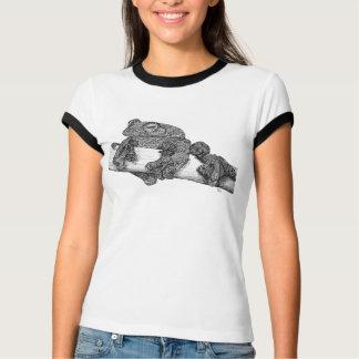 Flying Frog Ladies' Ringer T T-Shirt