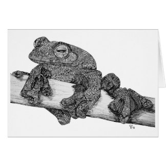 Flying Frog Note Card