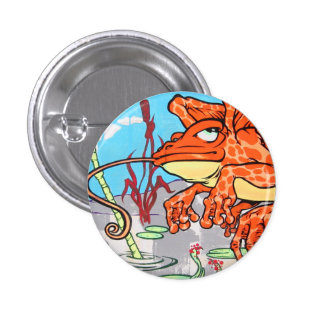 Flying Frog Pinback Button