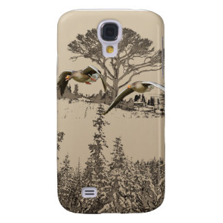 Flying Geese 3G 3GS Samsung Galaxy S4 Case
