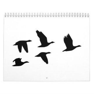 Flying geese birds calendar