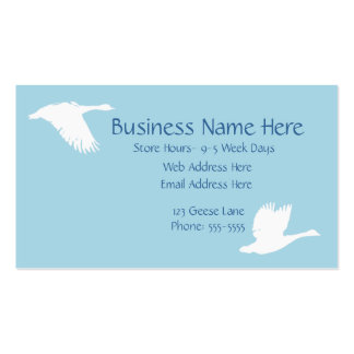 Flying Geese Blue Business Card