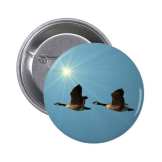Flying Geese Pinback Button