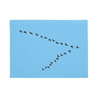 "Flying Geese ""V"" Formation Doormat"