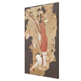 Flying genie or, Apsaras, from Dunhuang Canvas Print