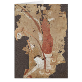 Flying genie or, Apsaras, from Dunhuang Card
