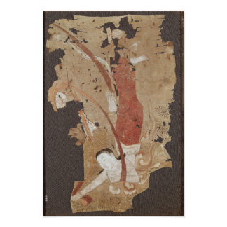 Flying genie or, Apsaras, from Dunhuang Poster