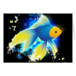 Flying Goldfish Card