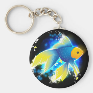 Flying Goldfish Keychain