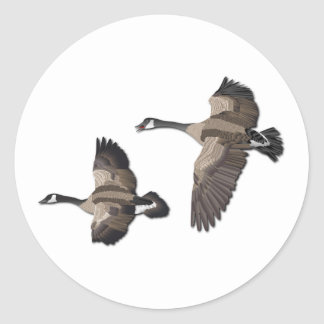 Flying Goose-No Text Classic Round Sticker