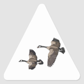 Flying Goose-No Text Triangle Sticker
