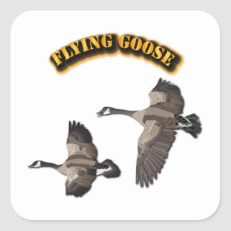 Flying Goose Square Sticker