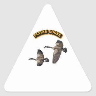 Flying Goose Triangle Sticker