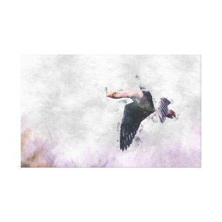 Flying Goose Wrapped Canvas Gallery Wrapped Canvas