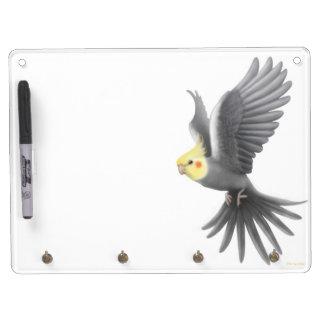 Flying Gray Cockatiel Bird Dry Erase Board
