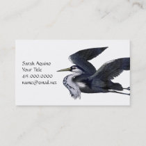 Flying Gray Heron Business Card
