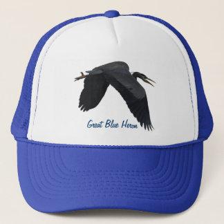 Flying Great Blue Heron Wildlife Hat