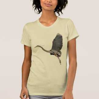 Flying Great Blue Heron Wildlife Shirt
