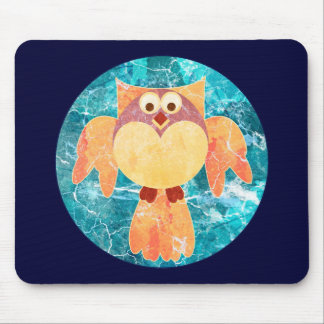 Flying Great Horned Owl Mousepads