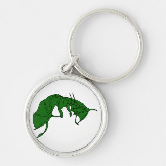flying green dragon outline.png keychain