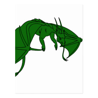 flying green dragon outline.png postcard
