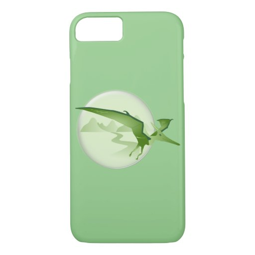 Flying green pterodactyl iPhone 8/7 case