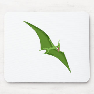 Flying Green Pterodactyl Mouse Pad