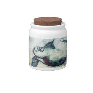 Flying Green Sea Turtle | Candy Jar