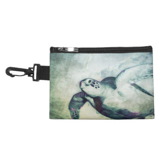 Flying Green Sea Turtle | Clip On Accessory Bag