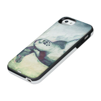 Flying Green Sea Turtle | iPhone 5/5s Battery Case