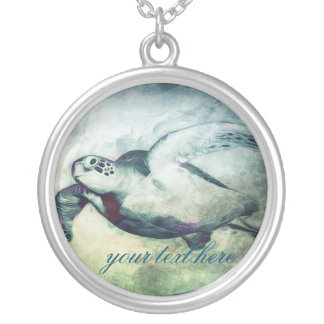 Flying Green Sea Turtle | Necklace