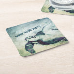 "Flying Green Sea Turtle | Paper Coasters<br><div class=""desc"">Flying Green Sea Turtle 
