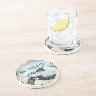 Flying Green Sea Turtle | Sandstone Drink Coaster