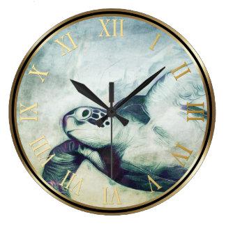 Flying Green Sea Turtle | Wall Clocks